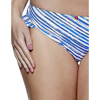 Audelle Seaside feber blå och vita Bikini byxa 147270