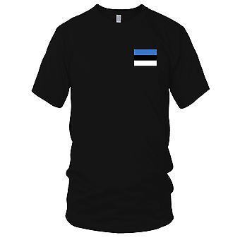 Estonie pays drapeau National - Logo - brodé 100 % coton T-Shirt Ladies T Shirt