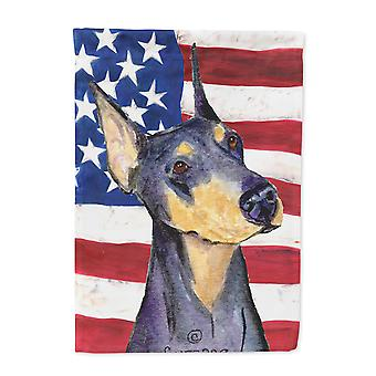 Carolines Treasures  SS4022-FLAG-PARENT USA American Flag with Doberman Flag