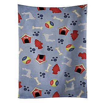Carolines skarby BB4127KTWL Dog House kolekcja Whippet Ręcznik kuchenny