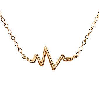Wave Inline - 925 Sterling ezüst sima nyakláncok - W22355x