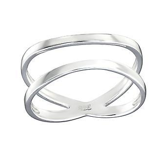 Crisscross - 925 Sterling Zilver platte ringen - W32281X