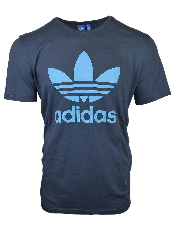 Adidas Originals Mens Blue Essential Trefoil T-Shirt AY8003 (XL)