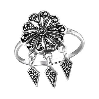 Flower - 925 Sterling Silver Plain Rings - W31366x
