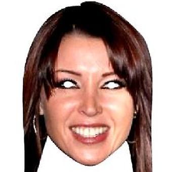Dannii Minogue Gesichtsmaske.