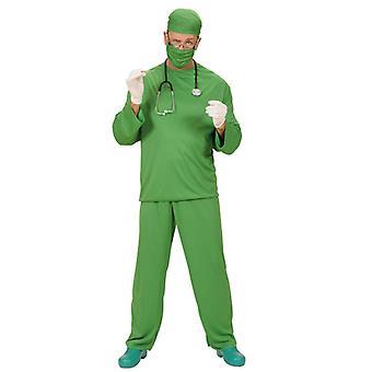 Chirurgien Costume (pantalon manteau Cap masque)