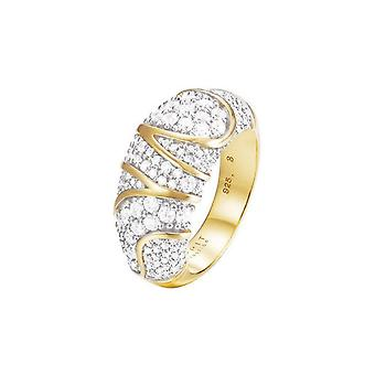 ESPRIT samling damer ring sølv guld cubic zirconia Adelphia GR 18 ELRG92513A180