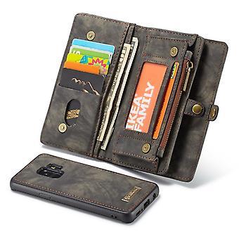 Cas de téléphone portable CaseMe housse de protection pour Samsung Galaxy S9 G960F sac à main + pochette noir