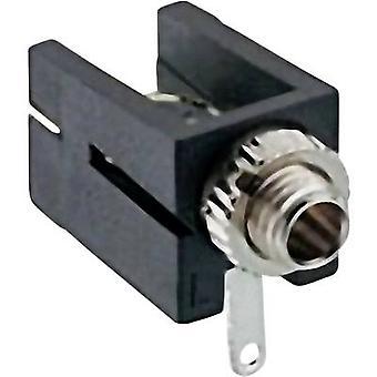 לוברג 1501 09 2.5 mm שקע שמע Socket, מספר אופקי של סיכות: 2 מונו שחור 1 pc (עם)