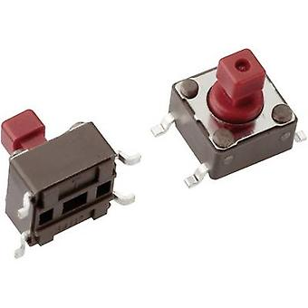 Mentor 1254.1107 Pushbutton 12 V DC 0,05 A 1 x Off/(On) momentâneo 1 pc (s)