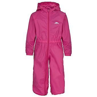 Καταπάτηση παιδικής/παιδικής κουμπιού αδιάβροχη αδιάβροχη αδιάβροχη στολή βροχής