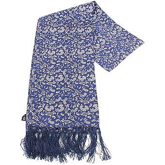 נייטסברידג ' ללבוש צעיף משי פייזלי-כחול