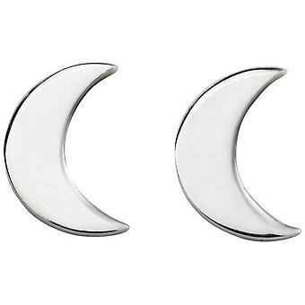 Begynnelse Moon Stud øredobber - sølv