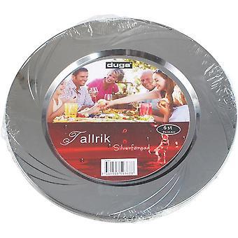 Placa de plástico plata 24pcs