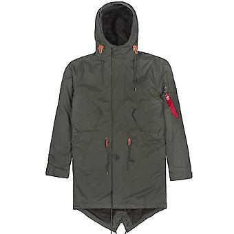 Alpha industries men's winter jacket hooded fishtail