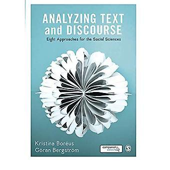 Analyse von Text und Diskurs: acht Ansätze für die Sozialwissenschaften
