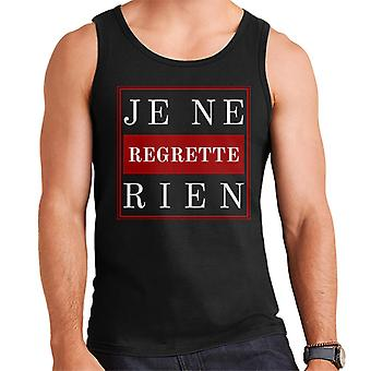 French Slogan Je Ne Regrette Rien Men's Vest