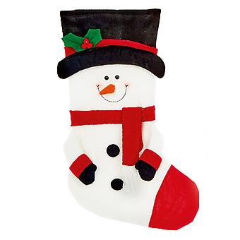 TRIXES 52cm snømann stede julestrømpe