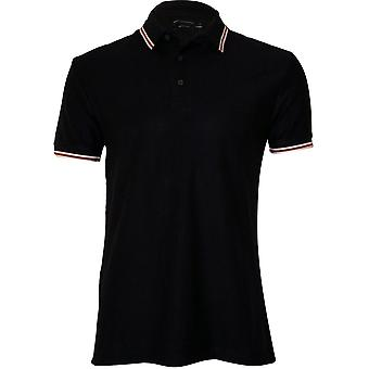 French Connection getextureerde Cotton poloshirt, Navy