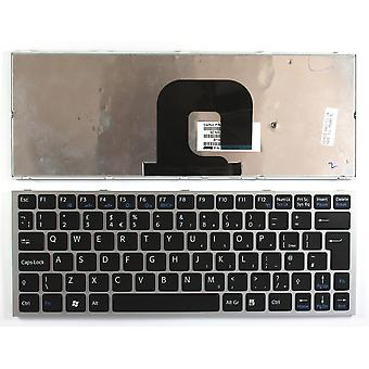 Sony Vaio VPCYA1V9E/B zilver Frame zwart UK lay-out vervanging Laptop toetsenbord