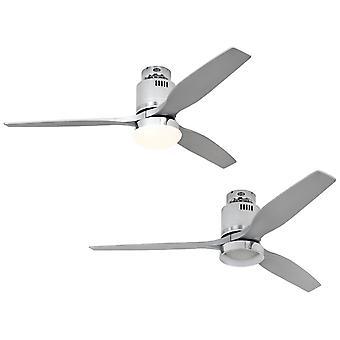 DC Ceiling Fan Aerodynamix Eco Polished Chrome / Silver