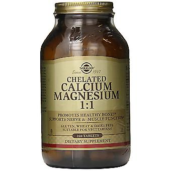 Solgar Chelated Calcium Magnesium 1:1 Tablets 240 Ct