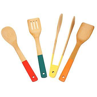 L'école de wok ensemble de 4 outils de bambou
