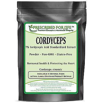 Cordyceps Mushroom-7% cordycepic Acid uute jauhe (Cordyceps sinensis)