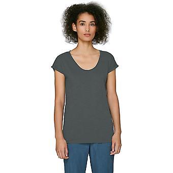 greenT Womens Organic Cotton Invents Slub Raw Edge T Shirt