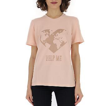 Alberta Ferretti 07026661j0131 Frauen's Rosa Baumwolle T-shirt