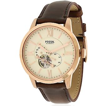 Fossil Townsman Rose Gold-Tone Leather Mens Watch ME3105