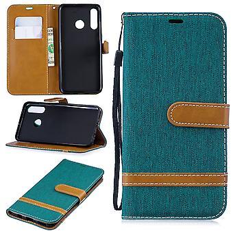 Huawei P30 Lite telefoon geval beschermende geval geval cover Card Case portemonnee groen