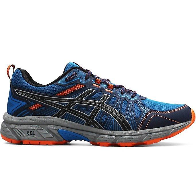asics Gel Venture 7 Herren Sneaker Blau-Grau-Orange Schuhe