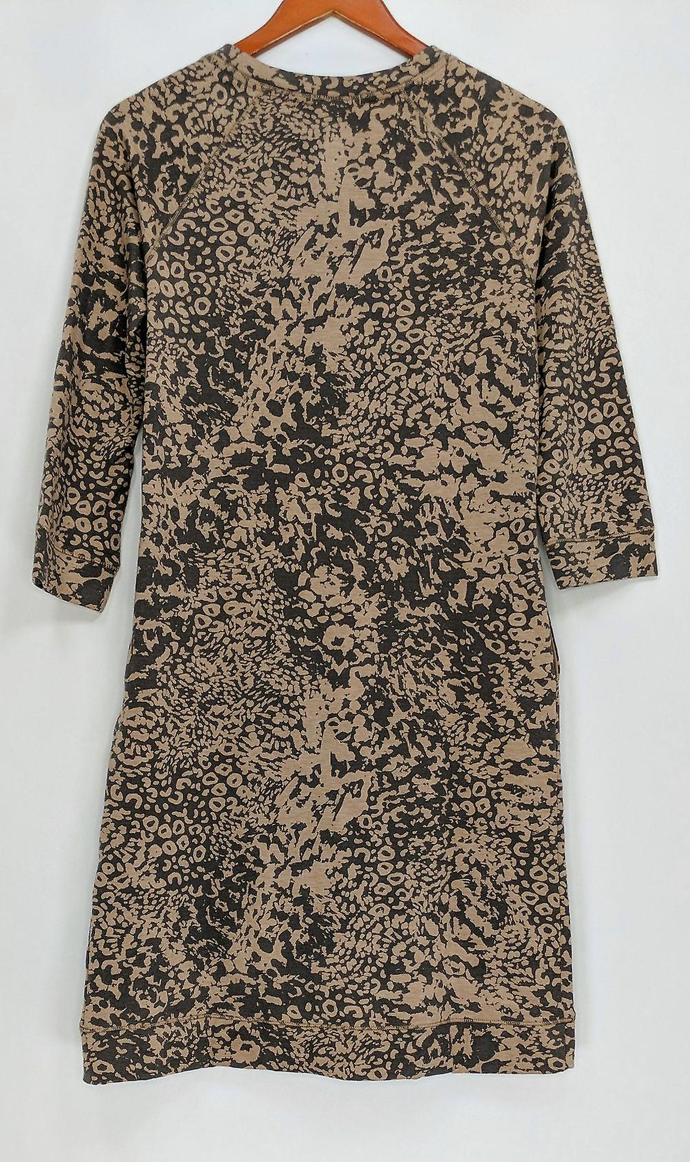 Cuddl Duds Dress Comfortwear French Terry Wrap Over Beige A294763