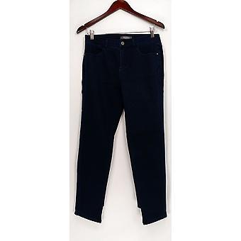 Lisa Rinna Kollektion Damen's Jeans Skinny Asymmetrisch blau A344179