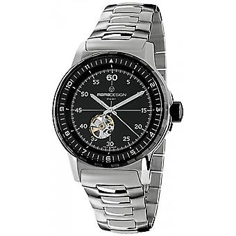 Momodesign pilot heritage Quartz Analog Man Watch with MD3064SB-30 Stainless Steel Bracelet