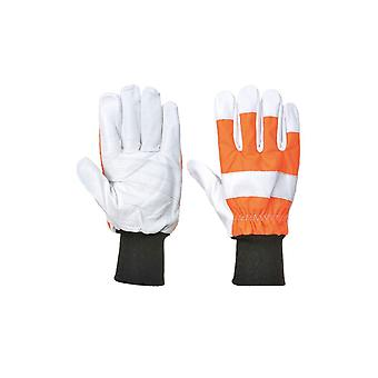 Portwest oak chainsaw protective glove (class 0) a290
