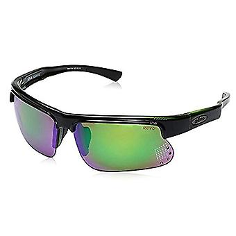 Revo RE 1025GF 18 GN Cusp S Polarized Wrap Sunglasses, Black/Green Green Water, 67 mm