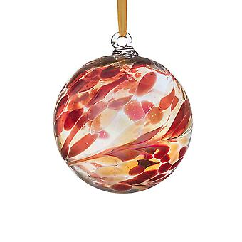 Sienna Glass 10cm Birthstone Ball, January Garnet