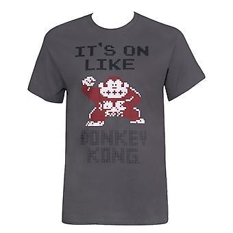 Nintendo het ' s op als Donkey Kong mannen ' s grijs T-shirt