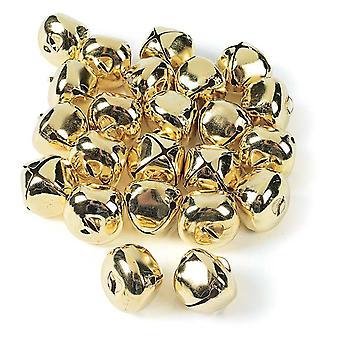 24 Jumbo Gold 35mm Jingle Bells for Crafts | Craft Bells