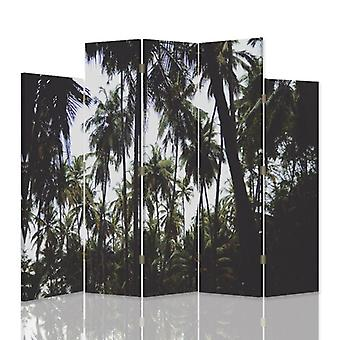 Divisória decorativa, 5 painéis, dupla face, lona, Palm 3