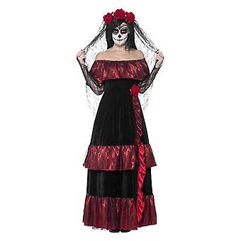 Journée des femmes de la mariée morte Halloween Fancy Dress Costume