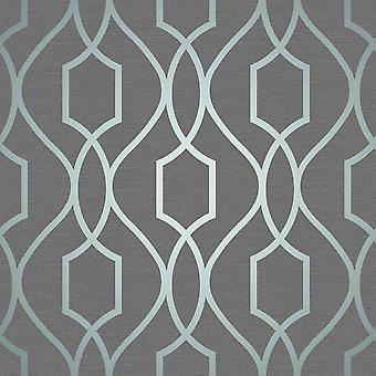 Apex Geometric Trellis Wallpaper Fine Decor