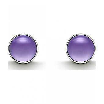 QUINN - Stud earrings (pair) - women - silver 925 - gemstone - amethyst - 36180933