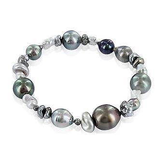 Luna-Pearls beaded bracelet Tahitiperlen multicolour 3001215