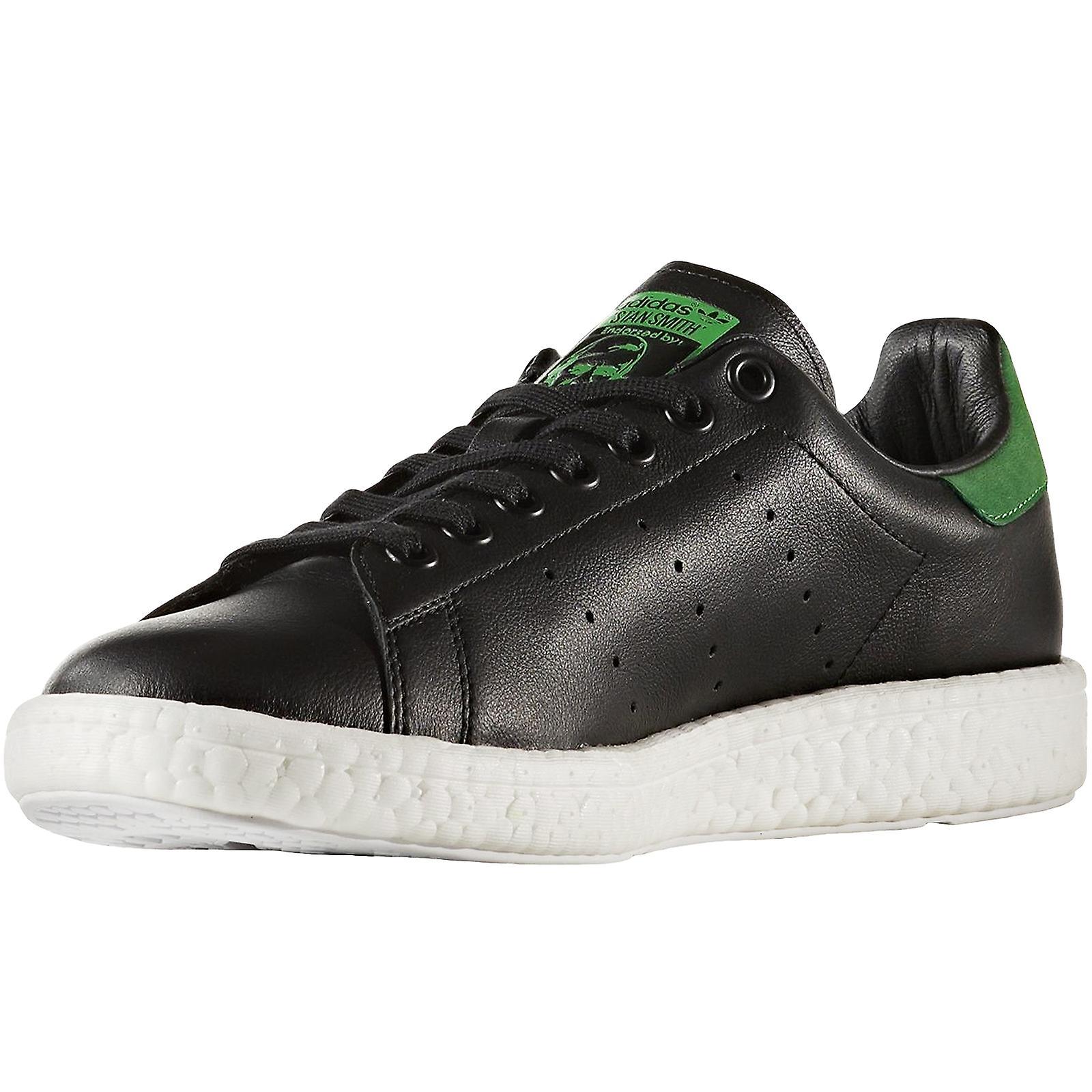 adidas Originals Mens Stan Smith Boost Low Rise Lace Up Trainers - Noir/Vert