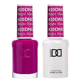 DND Duo Gel & Nail Polish Set - Bright Maroon 420 - 2x15ml