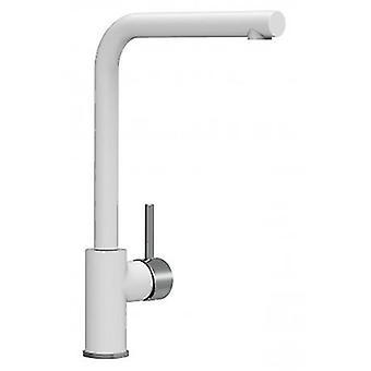 Mezclador de fregadero de una sola palanca de cocina con giro alto 360o spout - blanco - 470