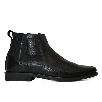 Anatomic Natal Black Leather Mens Pull On Chelsea Boots